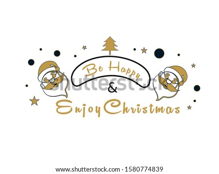 Font of Merry Christmas Text with Creative Xmas Tree, santa, texts and ornaments on White Background. Usable for banners, greeting cards, advertisement, poster, sale, promotion, gifts, etc.