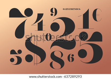 font of numbers in classical