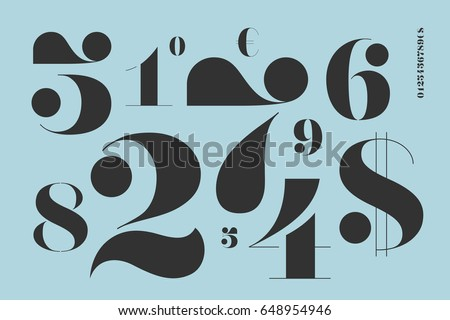 font of numbers in classical...