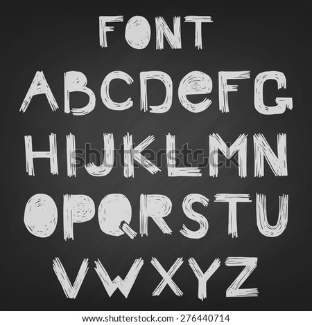 font scratched vector english