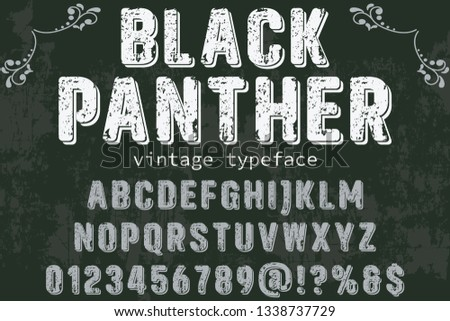 Font Script Typeface black panther vintage script font Vector typeface for labels and any type designs