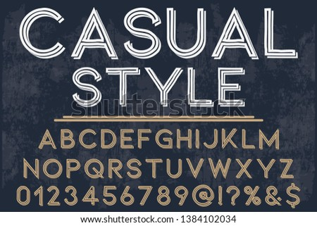 Font Script Typeface handcrafted handwritten vector label design named vintage casual style