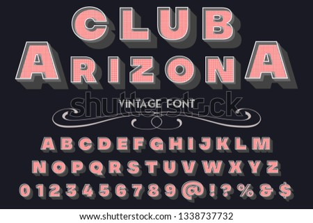 Font script typeface set named club arizona   Brush painted characters  lowercase and uppercase  Handwritten script font Typography alphabet for your designs