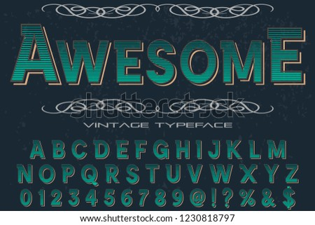 font script typeface vector named awesome