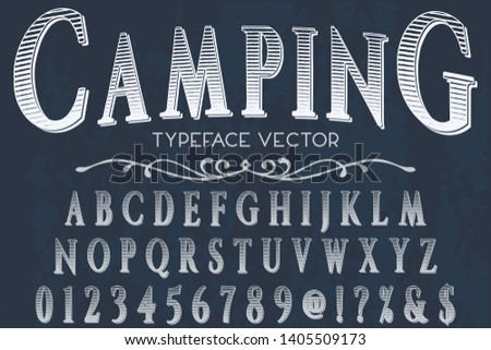 font script typeface vector named club camping