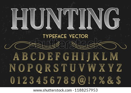 font script typeface vector named hunting