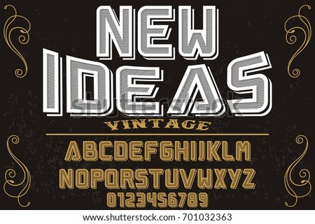 font script typeface vector named new ideas