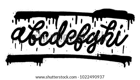Font Set With Letters A B C D E F