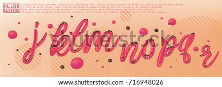font set with letters j  k  l