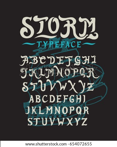 font storm hand crafted
