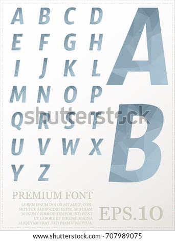 Font vector lowpoly design style illusstration eps.10 #707989075