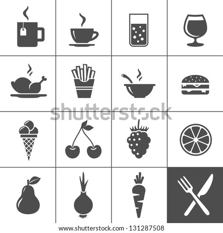 food and drink icon set drinks