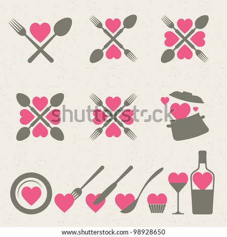 Food and drink icons collection