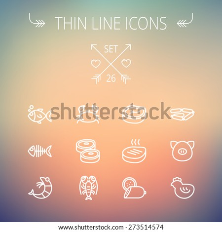 food and drink thin line icon