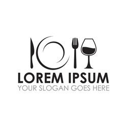 food and drink vector , restaurant logo vector