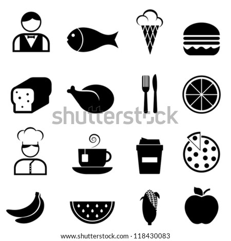 Food and restaurant icon set