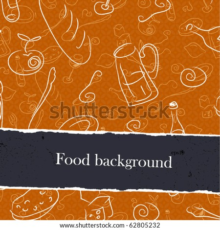 Food backgrounds set with copyspace. Easy editable by layers, eps10. - stock vector
