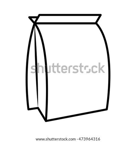food bag product packaging for