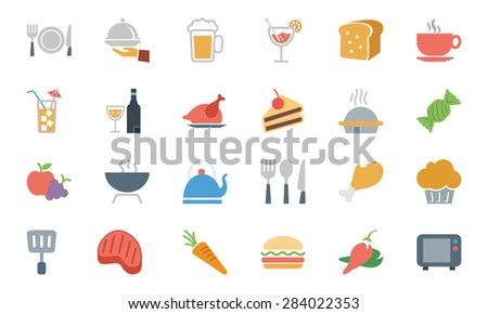 Food Colored Vector Icons 1