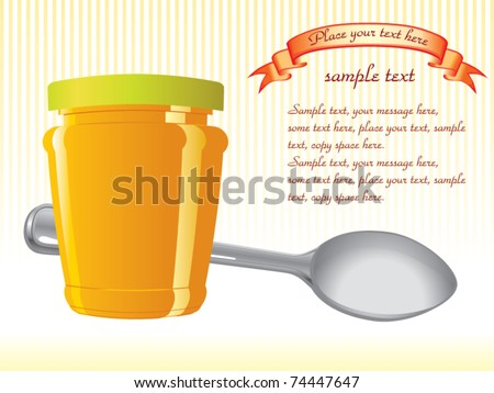 food container and spoon vector