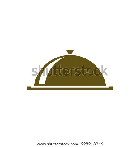 Food cover icon - stock vector illustration design