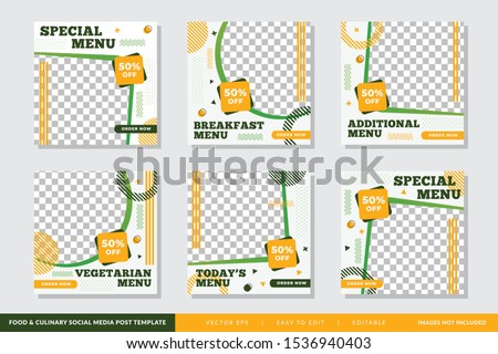 Food & culinary instagram Post promotion template Premium Vector
