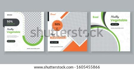 Food & culinary social media post banner promotion template. banner template. promotion template