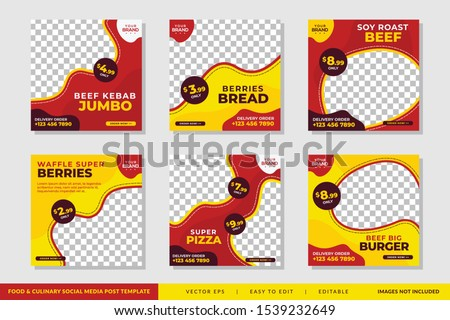 Food & culinary Social Media Post promotion template Premium Vector