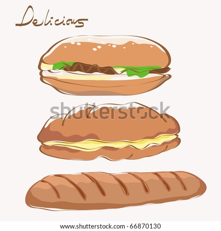 food delicious. very detail vector illustration. see the others