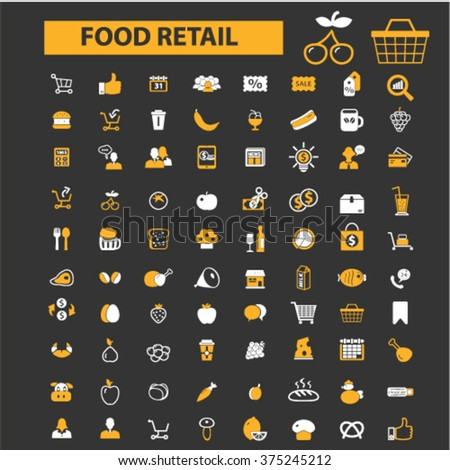 food, drinks, grocery icons