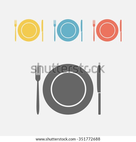 Food icon, food symbol.