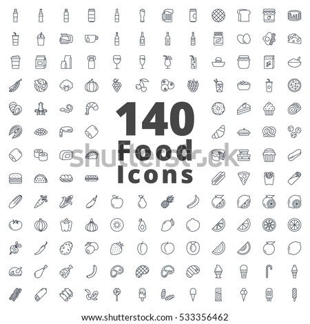 Food Icon Line  - Shutterstock ID 533356462
