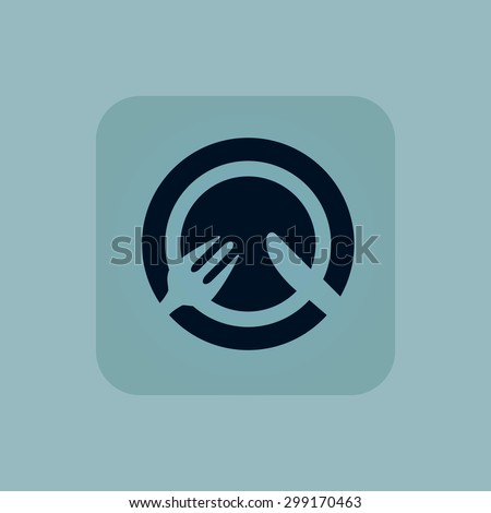 Food icon. Plate in restaurant logo. Menu eating food icon vector illustration for any wed design