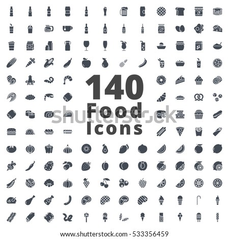 Food Icon Solid silhouette