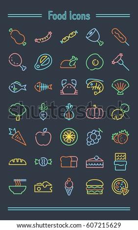 Food icons.