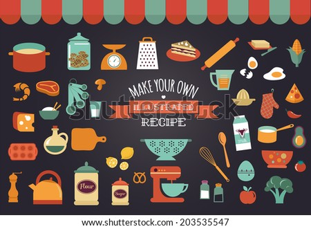 food icons and illustrations