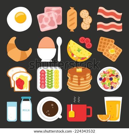 food icons  breakfast