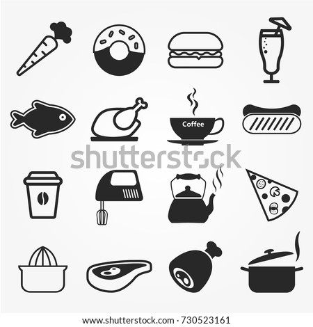 Food icons, food icons vector.