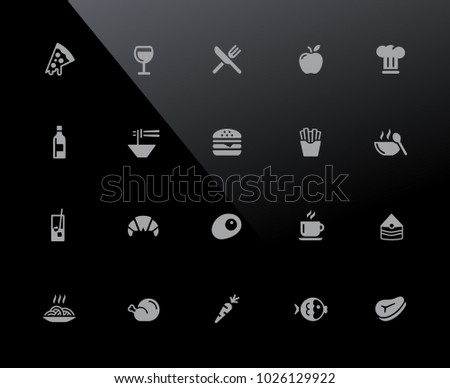 Food Icons - Set 1 of 2  // 32px Series - Vector icons adjusted to work in a 32 pixel grid.