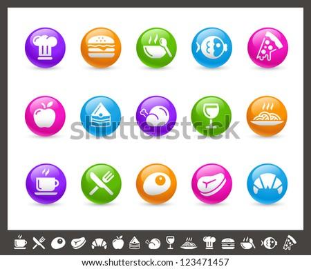 Food Icons - Set 1 of 2 // Rainbow Series