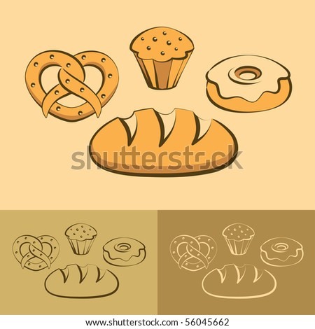 food icons, vector