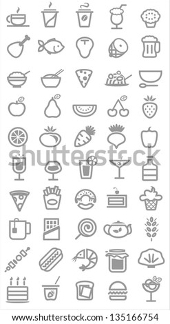 food icons. Vector illustration