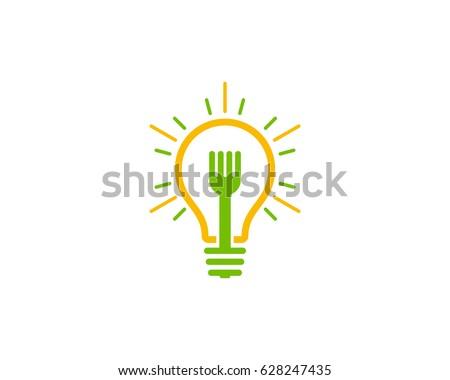 Food Idea Icon Logo Design Element