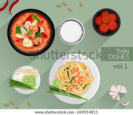 food illustration   thai food
