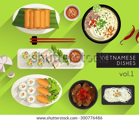 food illustration   vietnamese