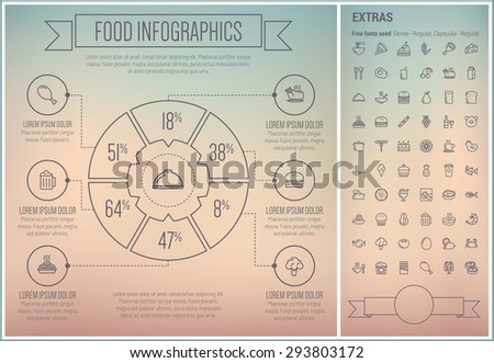 food infographic template and