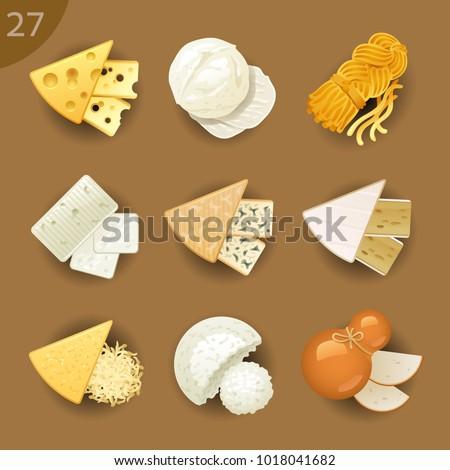 Food ingredients. Cheese