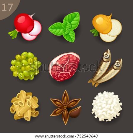 Food ingredients-set 17