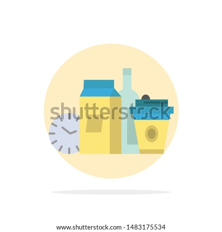 Food, Items, Milk, Items, Coffee Abstract Circle Background Flat color Icon