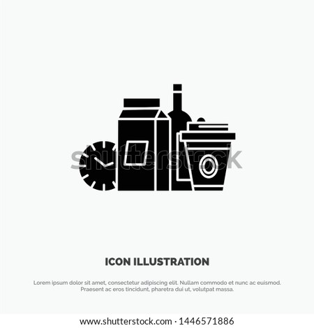 Food, Items, Milk, Items, Coffee solid Glyph Icon vector